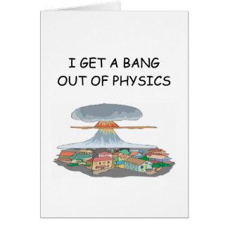 i love physics greeting card