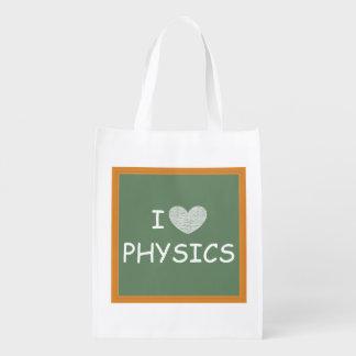 I Love Physics Grocery Bag