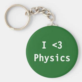 I Love Physics Keychain