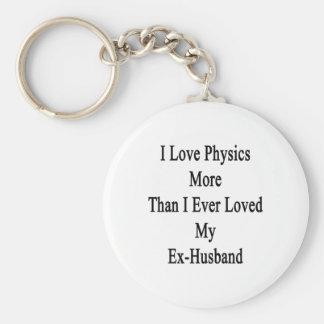 I Love Physics More Than I Ever Loved My Ex Husban Key Chains