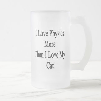 I Love Physics More Than I Love My Cat Frosted Glass Beer Mug