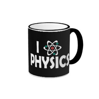 I Love Physics Ringer Mug