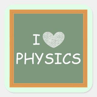 I Love Physics Square Sticker