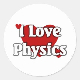 I love Physics Round Sticker