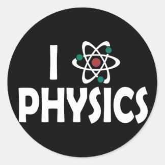 I Love Physics Stickers