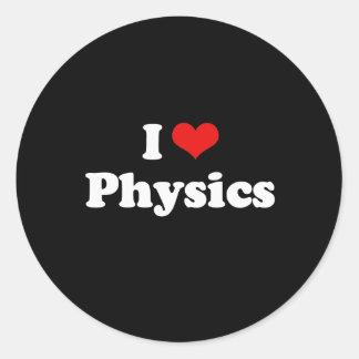 I Love Physics Tshirt Stickers