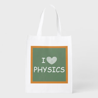 I Love Physics Reusable Grocery Bags