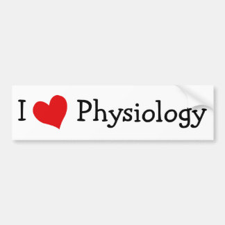 I Love Physiology Bumper Stickers