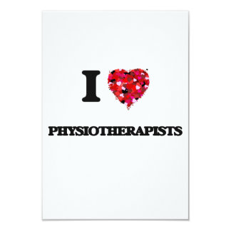 I love Physiotherapists 3.5x5 Paper Invitation Card