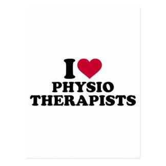 I love physiotherapists postcard