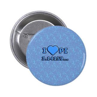 I LOVE PI - BLUE MODEL BUTTON
