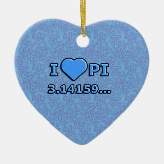 I LOVE PI - BLUE MODEL CERAMIC ORNAMENT