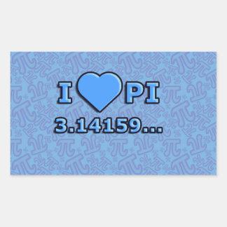 I LOVE PI - BLUE MODEL RECTANGULAR STICKER