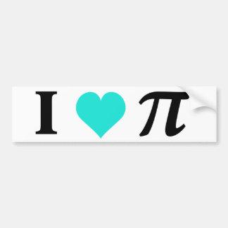 I Love Pi Car Bumper Sticker