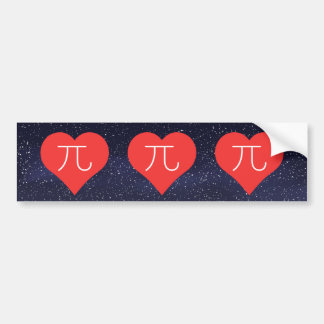 I Love Pi Day Bumper Sticker