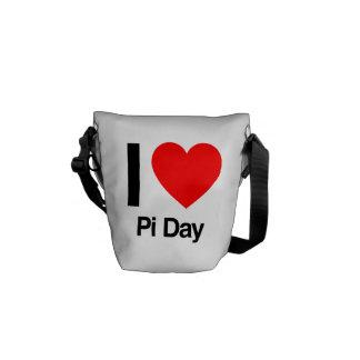i love pi day messenger bags