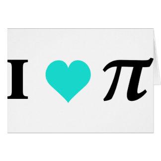 I Love Pi Greeting Card