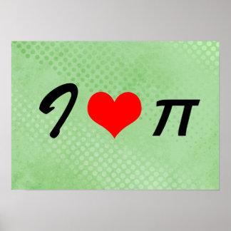 "I Love Pi (I ♥ π) Poster - 20"" x 14.29"""