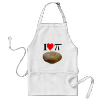 I love pi, I love pie, I heart pi, I heart pie Adult Apron