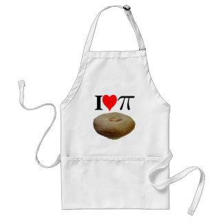 I love pi, I love pie, I heart pi, I heart pie Adult Apron