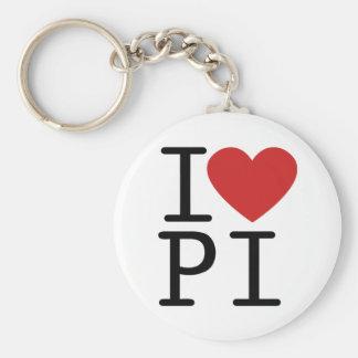 I LOVE PI KEY CHAINS