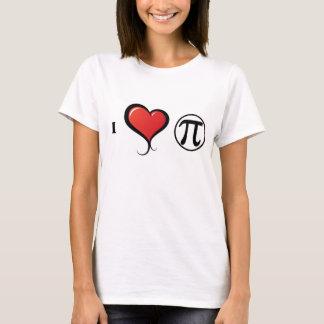 I Love PI Math Women's T-Shirt, White T-Shirt
