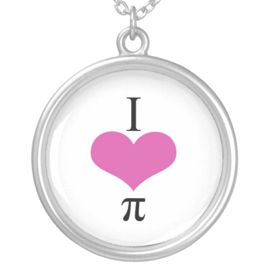 I love pi necklace