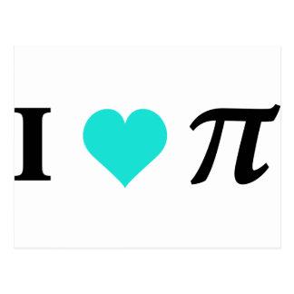 I Love Pi Postcard