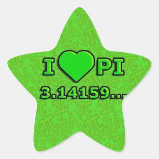 I LOVE PI - VERDE MODEL STAR STICKER