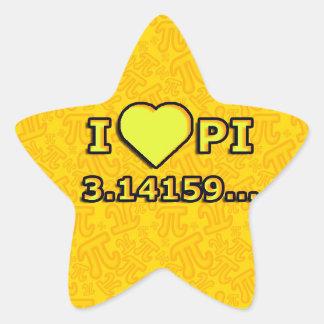 I LOVE PI - YELLOW MODEL STAR STICKER
