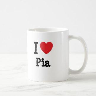 I love Pia heart T-Shirt Coffee Mugs