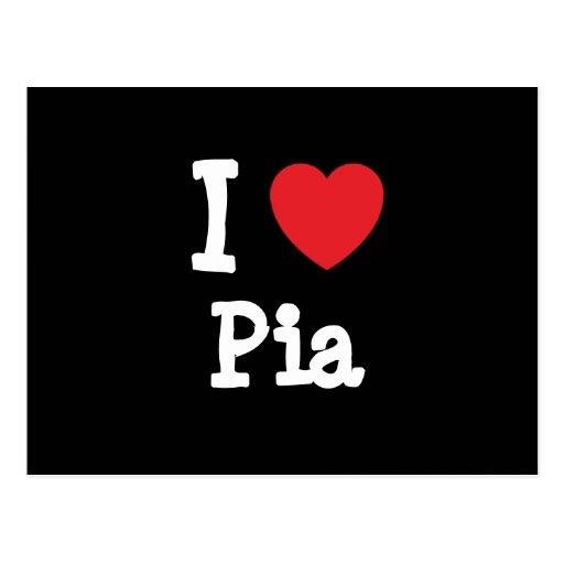 I love Pia heart T-Shirt Postcard