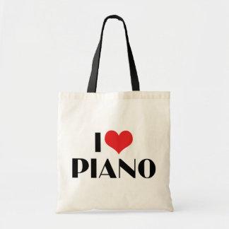 I Love Piano Canvas Bag