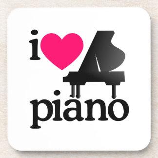 I Love Piano Beverage Coaster