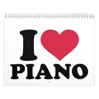 I love Piano Calendar