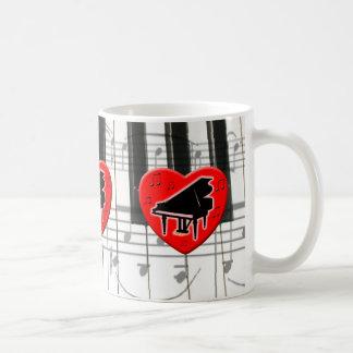 I Love Piano Coffee Mug