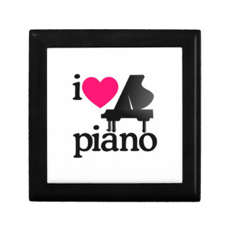 I Love Piano Jewelry Box