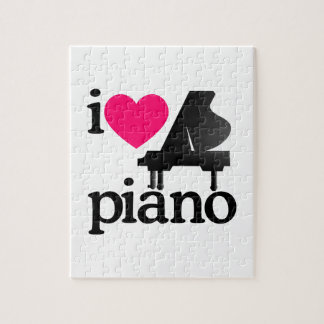 I Love Piano Jigsaw Puzzle