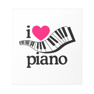 I Love Piano/Keyboard Notepad