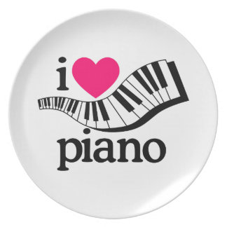 I Love Piano/Keyboard Plate