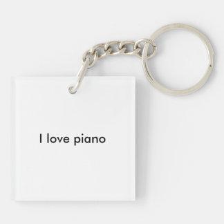 I love piano keychain