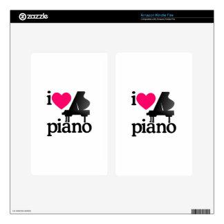 I Love Piano Kindle Fire Skins