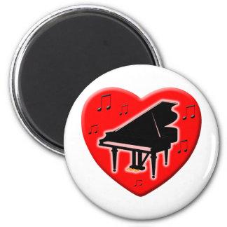 I Love Piano Magnet
