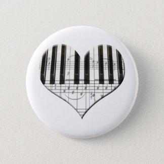 I Love Piano or Organ Music Heart Keyboard Button