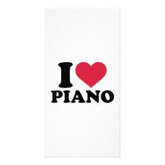 I love Piano Photo Card