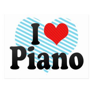 I Love Piano Postcard