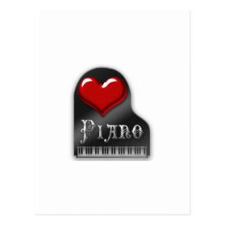 I Love Piano Postcard