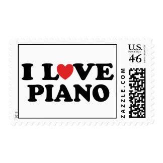 I Love Piano Stamps