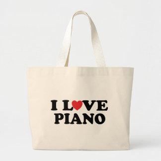 I Love Piano Tote Bag