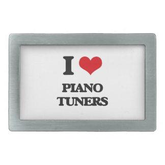 I love Piano Tuners Rectangular Belt Buckle